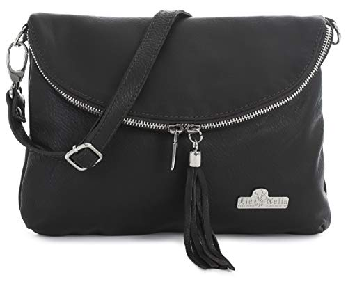 Bag Coffee Italian Real Size Soft Cross LIATALIA Small Body Shoulder Leather AMY Messenger Medium 8f1qRWOa