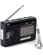 QFX R-39e AM/FM/SW Radio with Flashlight and USB/TF Player