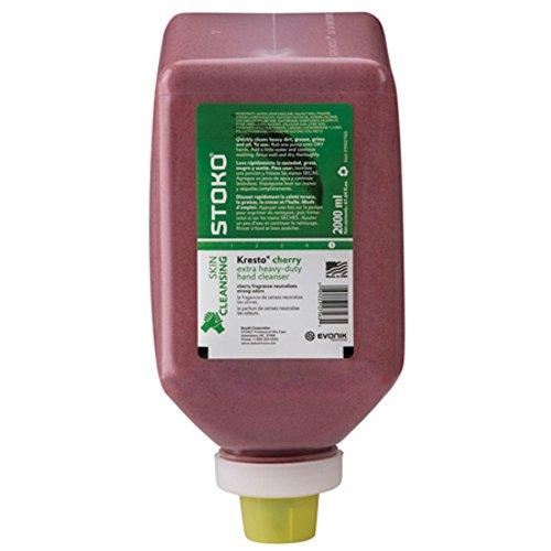 Stoko 99027563 Cherry Hand Cleaner, Softbottle, 2,000ml, 6/Case