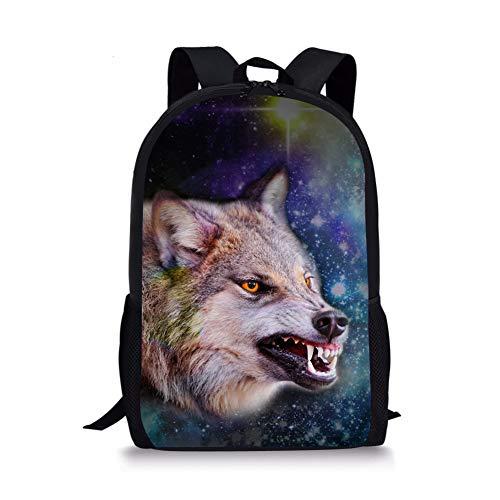 Moyen Fox Cartable Wolf Noir 6 1 Chaqlin x7SaqCA