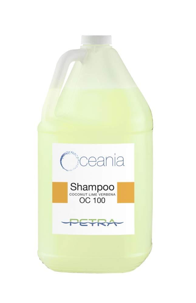 Oceania Wholesale Shampoo   4x1 Gallon Jugs Per Case   Coconut Lime Fragranced Shampoo Perfect for Gym/Health Club Showers