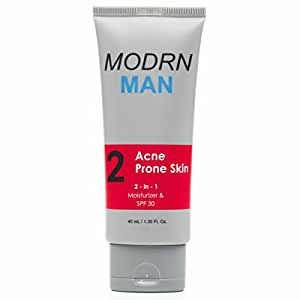 MODRN MAN Face Moisturizer with SPF for Men | Premium Daily Oil Control Face Lotion, After Shave for Men with Oily and Acne Prone Skin | Repair, Hydrate & Protect (1.35 oz)