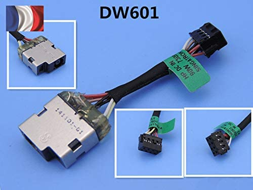 cythonworks HP Pavilion 15-N 15-P DC in Jack Power Socket C/âble 730932-TD1 65W//90W