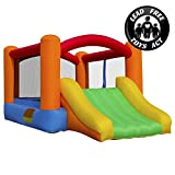 Backyard Kids Child Children Toys Safety Play New Inflatable Bounce House Bouncer Water Slide Jumper Climbing w 450W Electric Blower Heavy Duty Fire-Resistant Puncture Proof 420D Nylon Easy Quick Blow