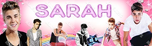 (Personalized / Customized Justin Bieber Name Poster Wall Decor Door Birthday Art Banner)
