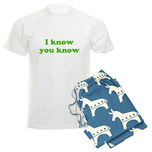CafePress - I Know You Know - Unisex Novelty Cotton Pajama Set, Comfortable PJ Sleepwear