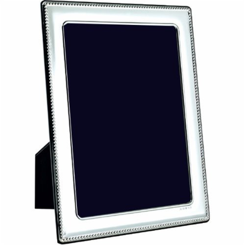 Carrs Silver Bead - Carrd Carrs Silver Bead Edge Sterling Silver Photo Frame Velvet Back can Stand Portrait or Landscape