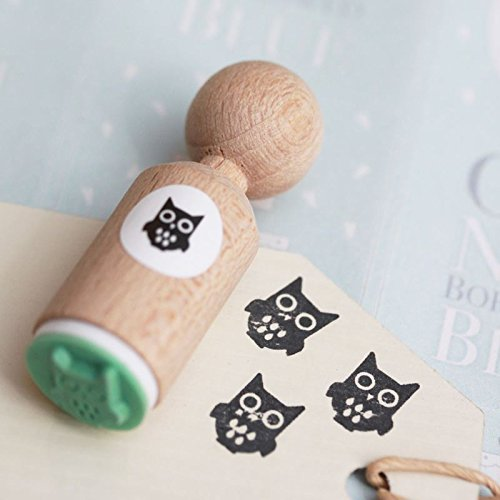 OWL Rubber Stamp - VERY MINI - Craft / Scrapbooking / Stamping ()