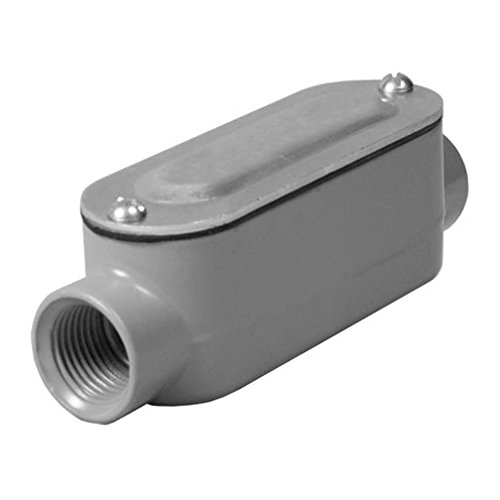 Taymac RLC150 Threaded C Type Conduit Body, Die Cast Aluminum, Stamped Steel Cover, 1 2-Inch