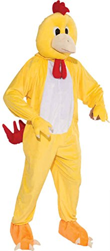 - UHC Unisex Chicken Plush Mascot Jumpsuit Funny Theme Adult Halloween Costume, OS