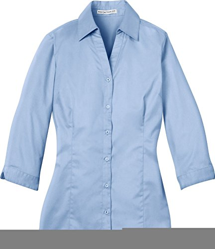 Port Authority - Ladies 3/4 Sleeve Blouse. L6290 - Light Blue - XXX-Large