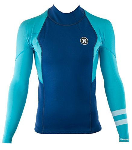 Hurley MJW0000160 Men's Fusion 101 Jacket, Beta Blue - XL (Hurley Top Wetsuit)