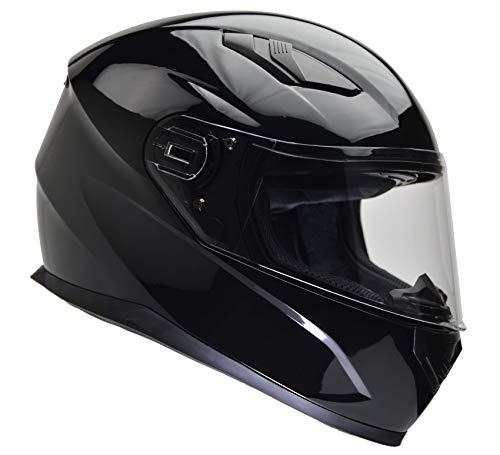 Vega Helmets 6100-013 Ultra Full Face Helmet for Men & Women (Gloss Black, Medium) 1 pack
