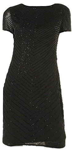 Lauren Ralph Lauren Women's Beaded Georgette Cocktail Dress, Black, 8