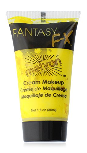 Mehron Makeup Fantasy F/X Water Based Face & Body Paint, YELLOW – 1oz Carded (Halloween Costume Face Paint Ideas)