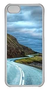 Curvy road around iceland Custom iPhone 5C Case Cover Polycarbonate Transparent