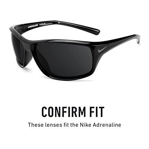 Verres de rechange pour Nike Adrenaline — Plusieurs options Titanium MirrorShield® - Polarisés