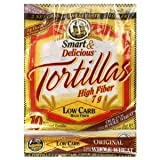 7'' La Tortilla Factory Whole Wheat Low Carb Tortillas (Regular Size) Pack of 2