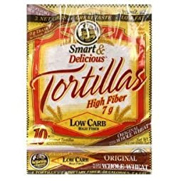"7"" La Tortilla Factory Whole Wheat Low Carb Tortillas (Regular Size) Pack Of 2"