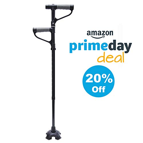 - Easy Sit & Stand Up Cane   Double Handle Walking Cane with Flashlight