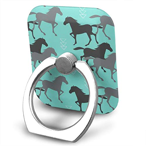 Pedestal Rose Wild Metal (BLDBZQ Cell Phone Ring Holder Wild Horse Running Finger Grip Stand Holder 360 Degrees Rotation Compatible with iPhone Samsung Phone Case)