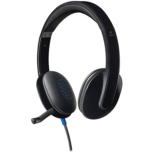 Logitech H540 Plug & Play USB Wired Stereo Headset w/Boom Microphone - Black (Certified (Logitech Mobile Headset)