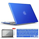 IBENZER MacBook Air 13 Inch Case, Soft Touch Hard Case Shell Cover with Keyboard Cover Screen Protector for Apple MacBook Air 13 A1369 1466 NO Touch ID, Royal Blue,MMA13RBL+2 N