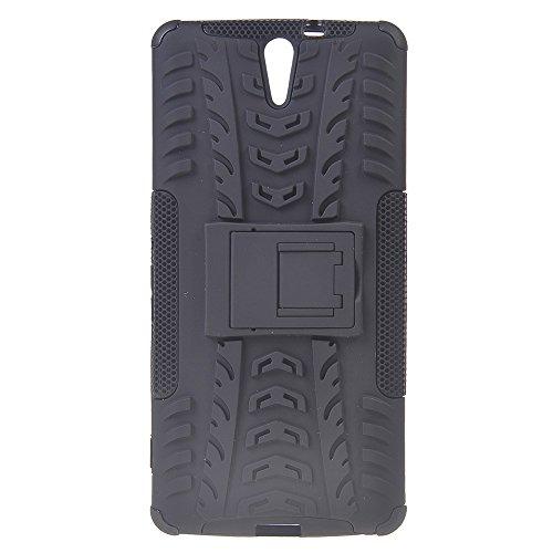 Xperia C5 Ultra Funda,COOLKE Duro resistente Choque Heavy Duty Case Hybrid Outdoor Cover case Bumper Para Sony Xperia C5 Ultra - Rojo negro
