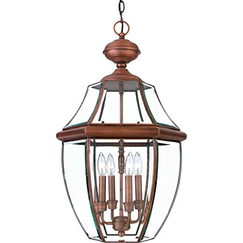 Bidwell Lighting Yahi 4 Light Outdoor Wall Lantern - Aged Copper