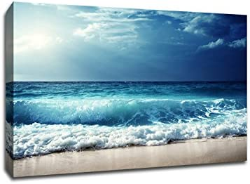Cloudy Waves Canvas Wall Art