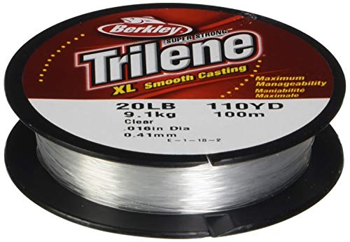 (Berkley Trilene XL Smooth Casting Monofilament Service Spools (XLPS20-15), 110 Yd, pound test 20 -)