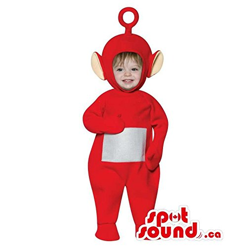 Cute Red Teletubbies Character Toddler Size Plush Costume
