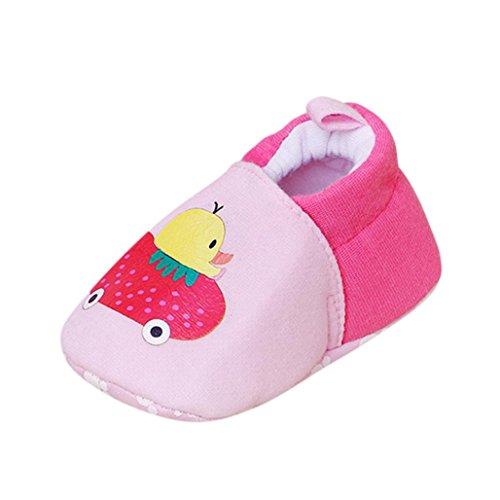 IGEMY Neugeborenes Baby Kind Mädchen Jungen Cartoon Weiche Prewalker Casual Wohnungen Schuhe Rosa