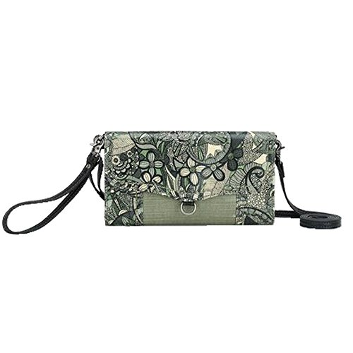 Sakroots Women's Thea Phone Wallet Crossbody Sage