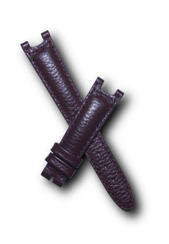 17mm Brown Buffalo Grain Genuine Leather Pin Buckle Watchband with Brown Stitching to fit TAG Heuer S/el ( SEL Sports Elegance) Mid-size models by S And W