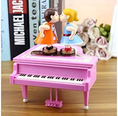 Flowerrs Regalo de San Valentin Pareja de Piano giratoria Caja Musical niñas Regalo Musical de cumpleaños (Rosa) Estuche Musical (Color : Pink): Amazon.es: Hogar