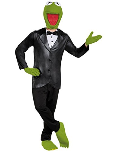 (Disguise Men's Kermit Deluxe Adult Costume, Black/Green,)