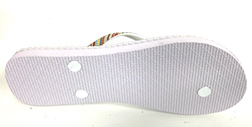U.S.POLO ASSN. Infradito Unisex US Polo Bianco MOD NIMAS Stampa Righe Multicolor US16UP27