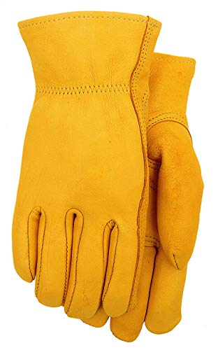 Deerskin (buckskin) Leather Work Gloves (Thinsulate Lined, Extra Large)