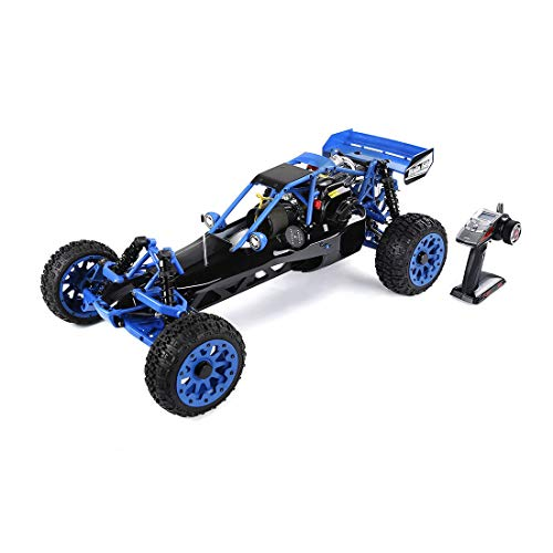 Lingxuinfo Gasoline RC Car 1/5 Scale Gas Truck High Speed Remote Control Off-Road Vehicle with 32cc Gasoline Engine and…
