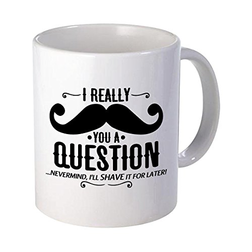 I Mustache You A Question Gift Idea Father's