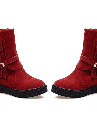 Ante Sintético 5 Vestido 8 Plataforma De us9 5 Eu41 us10 Uk8 Zapatos Redonda Red Red Eu42 Uk7 Xzz Negro 5 Botines Beige 5 10 Punta Cn43 Mujer Cn42 Botas Rojo 8vzWxnH