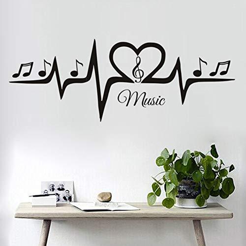 LovelyHomeWJ Notas de la Clave de Sol Musical Pegatinas de Pared ...