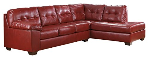 (Ashley Furniture Signature Design - Alliston 2-Piece Sectional - Left Arm Facing Sofa & Right Arm Facing Corner Chaise - Salsa Red)