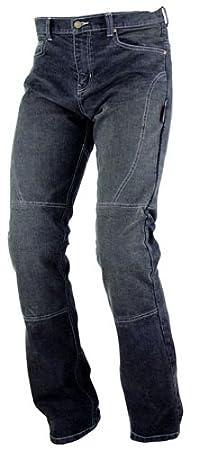 Jeans da moto con protezioni colore nero rinforzi in Kevlar A-Pro 26