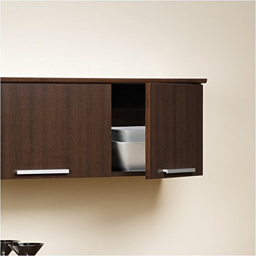 Hawthorne Collections Wall Mounted Hutch in Espresso