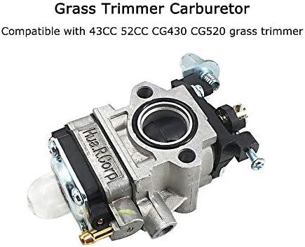 Carburador de la cortadora de césped para 43CC 52CC CG430 CG520 ...