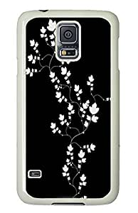 Samsung S5 case custom covers Sakura Flowers Black And Whites PC White Custom Samsung Galaxy S5 Case Cover
