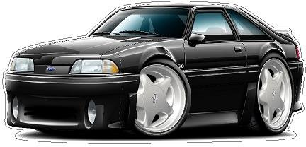 1987-1993 Mustang GT (Pony Wheels) WALL DECAL Vintage