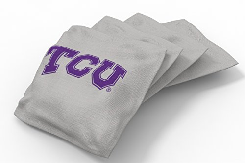 lege Tcu Horned Frogs Gray Authentic Cornhole Bean Bag Set (4 Pack) (Tcu Set)